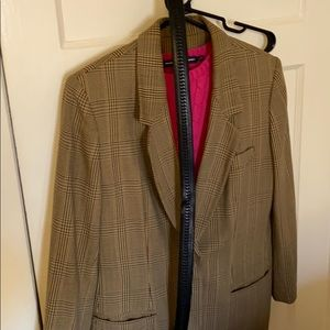 Jackets & Blazers - Checked Vintage blazer with vintage belt